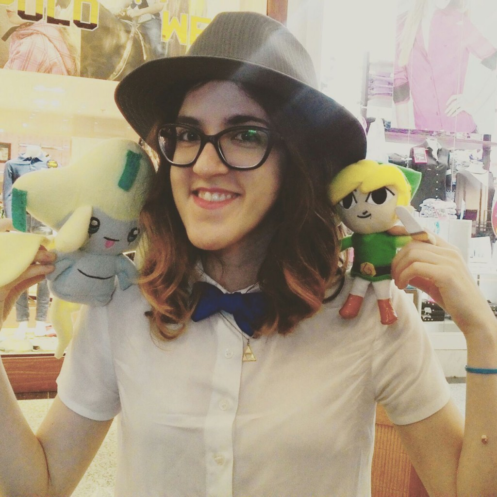 GRACIAS! Foto minha com o Link cosplayer e o ilustre Jirachi! :)